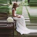 Amazing Sheath Wedding Dresses High Quality Sleeveless V Neck Vestidos De Novia Lace Cap Sleeve Bridal Dress Custom made 2017