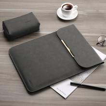 Матовая сумка для ноутбука из искусственной кожи для женщин и мужчин 15,6 14 для Macbook Air 13 Чехол Pro 11 12 15 для Xiaomi Mi 12,5 13,3 чехол
