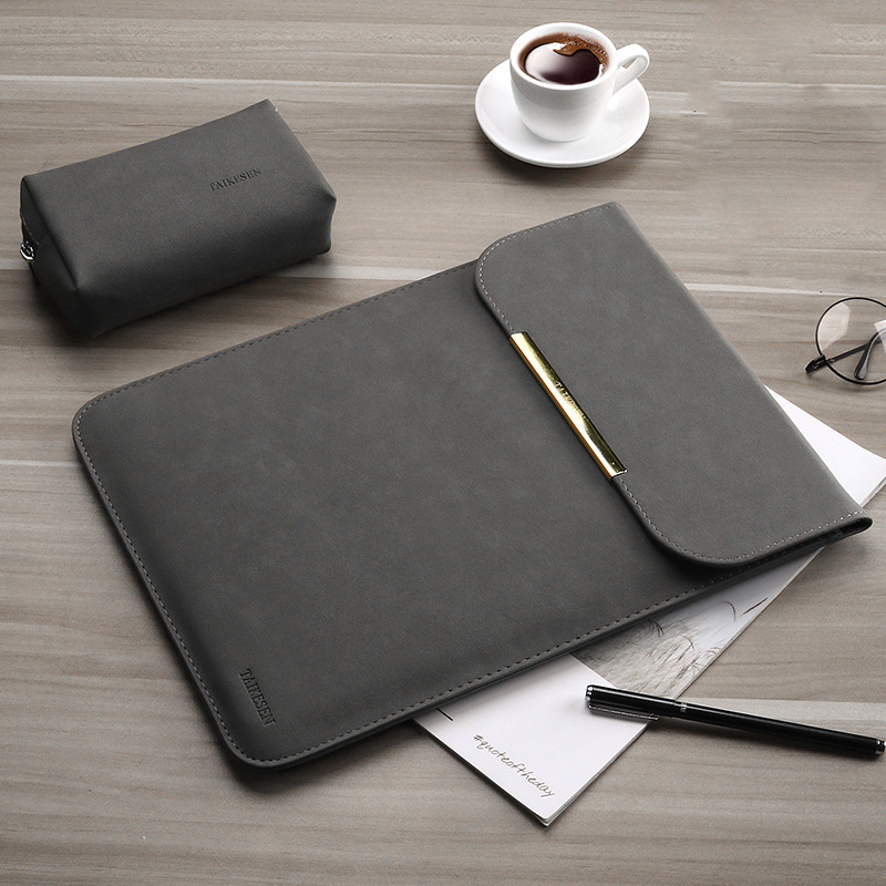 PU Leather Women Men Matte Sleeve Laptop Bag <font><b>15.6</b></font> 14 For Macbook Air 13 Case <font><b>Pro</b></font> 11 12 15 For <font><b>Xiaomi</b></font> <font><b>Mi</b></font> <font><b>Notebook</b></font> 12.5 13.3 Cover image