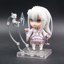 Emilia Re Zero Q Version Action Figure Re:life In A Different World From Zero Toy Japanese Anime Figures Action Model Collection re zero starting life in another world emilia 751 nendoroid emilia action figure toy 9cm nd f0