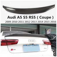 Carbon Fiber Spoiler For Audi A5 S5 RS5 Coupe 2009 2016 Rear Wing Spoilers High Quality Car Accessories