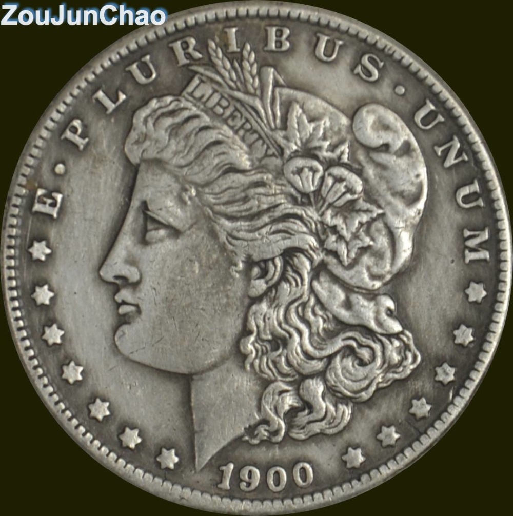 United States Of America 1900 Brass Silver Plated Morgan