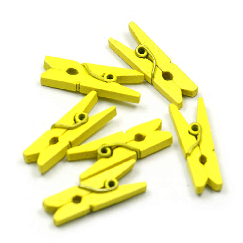 10-50 stücke 2,5 CM Heißer Verkauf Mini Natürliche Holz Kleidung Foto Papier Peg Pin Clothespin Handwerk Clips Schule büro Schreibwaren