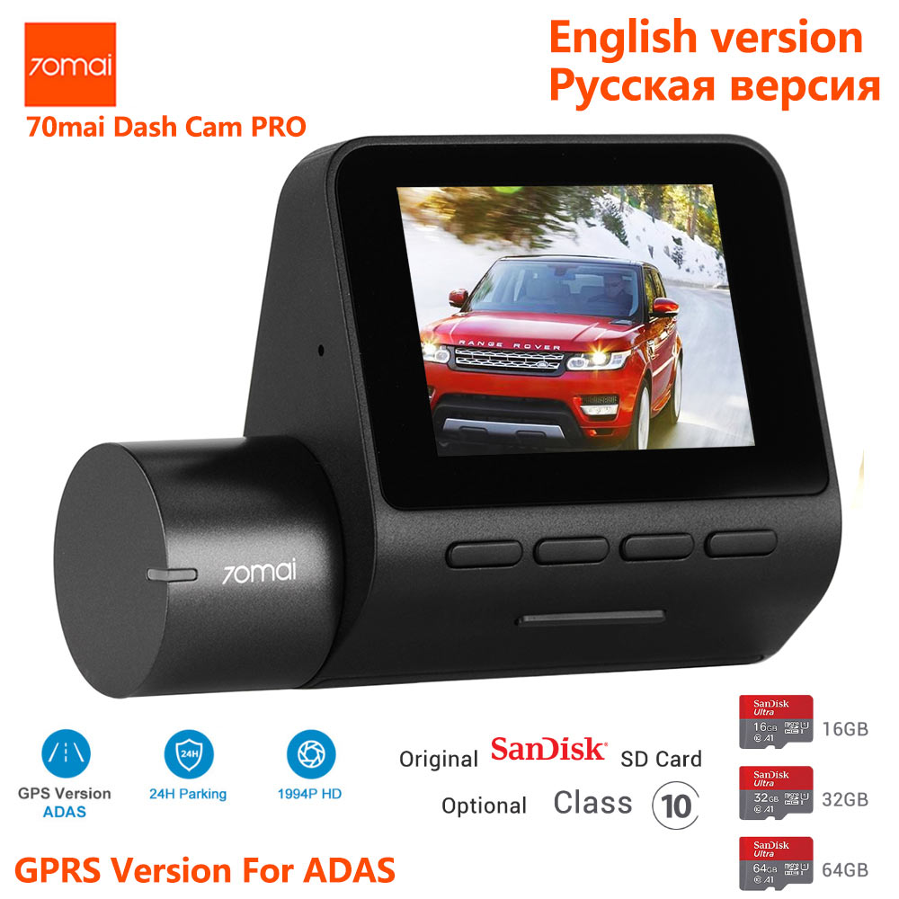 Xiaomi 70mai Pro 1944 P HD Voiture DVR Caméra 140 Degrés FOV Désembuage ADAS Nuit Vision 24 H Parking Moniteur wifi Commande Vocale Dash Cam