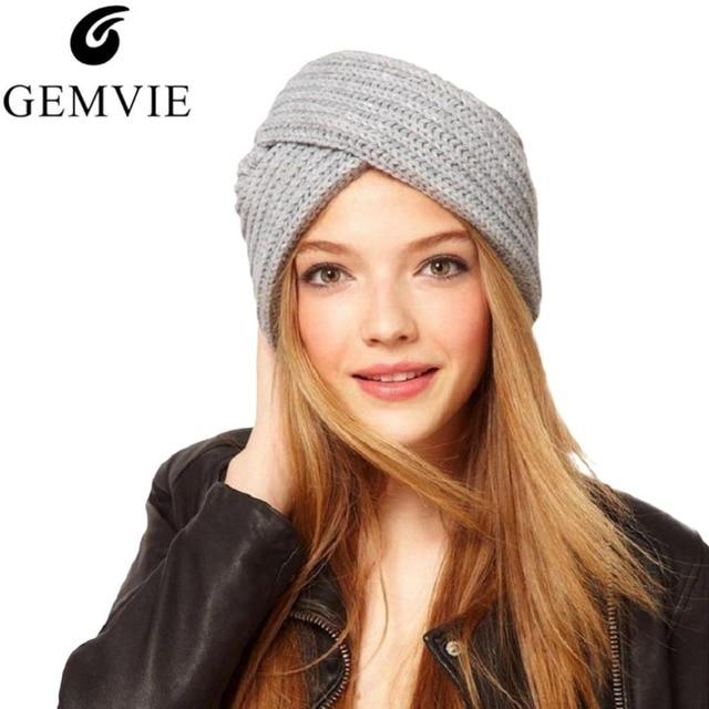 2018 invierno gorro para las mujeres caliente mezcla de lana sombreros  Skullies gorros Color sólido sombrero e31c91f2e1c