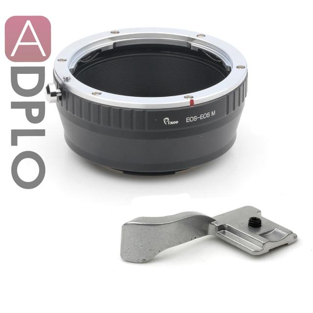 Pixco adaptador de montaje traje para Canon EF montaje de la lente a EOS M adaptador Mirrorless cámara M3 M2 M + tapa de la zapata ( plata )