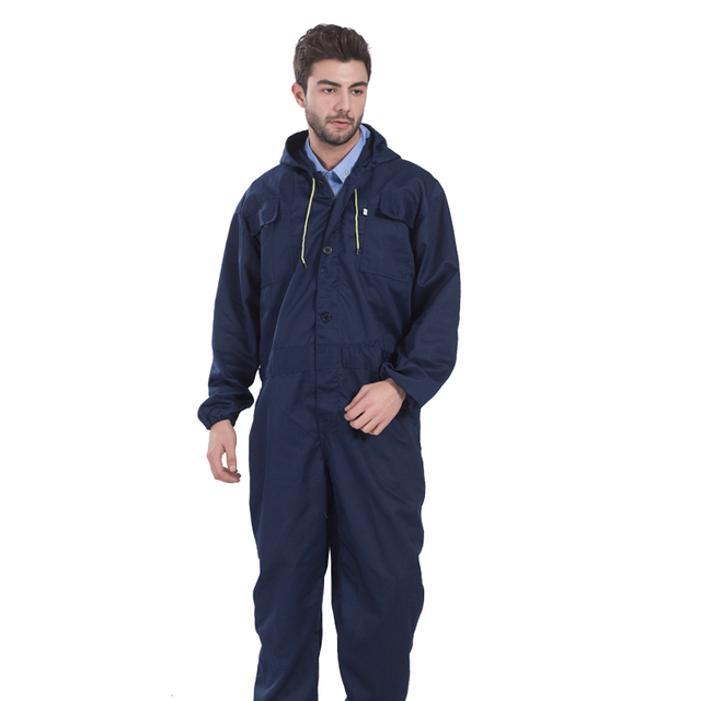 Navy Blue Workwear Coveralls Men Work Pants Construction Uniforms