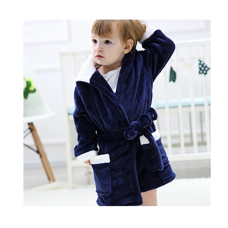 2 Styles Children s Day Gifts Animal Home Wear For Kids Flannel Cartoon Robes Warm Baby