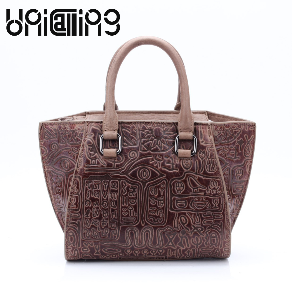 UniCalling New style crossbody bags for women Fashion Retro dull polish cow leather Oracle women bag big women handbag unicalling fashion brand split leather crocodile women bag retro top grade bucket bag chain mini crossbody bags for women