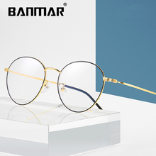 BANMAR Anti Blue Rays Light Glasses Women Men Goggles Computer Optical Round Vintage Gaming Eyeglasses Clear Lens A1911