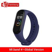 "Globale Version Xiao mi mi Band 4 Smart mi band 4 Wasserdicht Herz Rate Fitness 135mAh Bluetooth 5,0 50M 0.95 ""AMOLED Bildschirm"