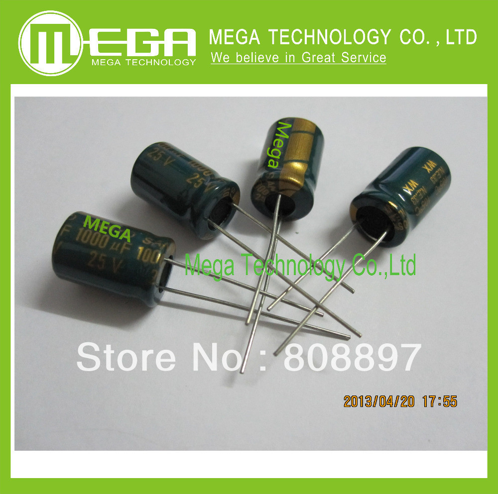 5PCS 1000uF 25V 10*17MM 105C High Frequency Radial Electrolytic Capacitor