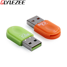 Glylezee usb кард-ридер портативный карта micro sd t-flash чтения карт памяти до 64 ГБ 5 цветов