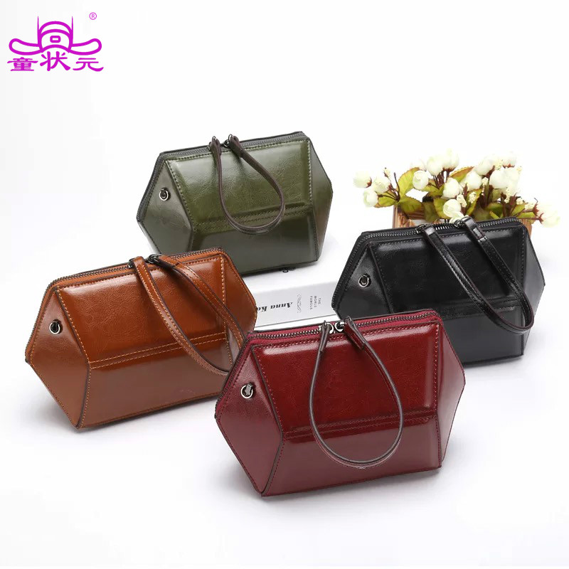TZY 2017 The New Genuine Leather Women Messenger Bag Diamond Shaped Package Summer Wrist Shoulder Bags lipt 2018 mini package bag chain bag small package of the new spring and summer leisure package free shipping