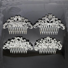 hot deal buy wedding dress accessories bridal accessories wedding bridal accessories alloy rhinestone hair combs bridal tiara