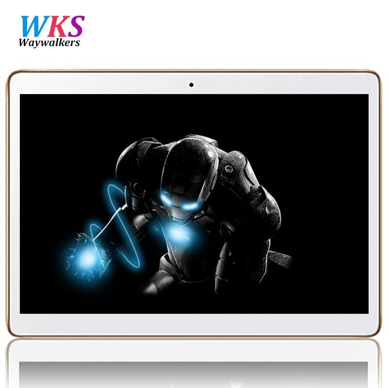 Waywalkers 10.1 pouce 3G 4G LTE Octa base Android 5.1 Tablet PC 1280*800 Double Caméra 5.0MP GPS WCDMA Appel Téléphonique 4 GB/64 GB MTK6592