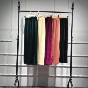 Image 2 - Muslim Women Skirt Bodycon Slim Stretch Long Maxi High Waist Pencil Dress Sheath Bottoms Islamic Ankle Length Arab Middle East