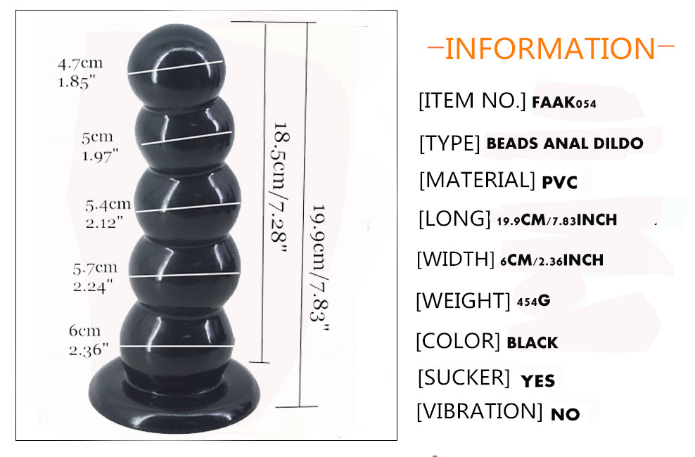 7.8 Inch Ball Style Dildo with Suction Base