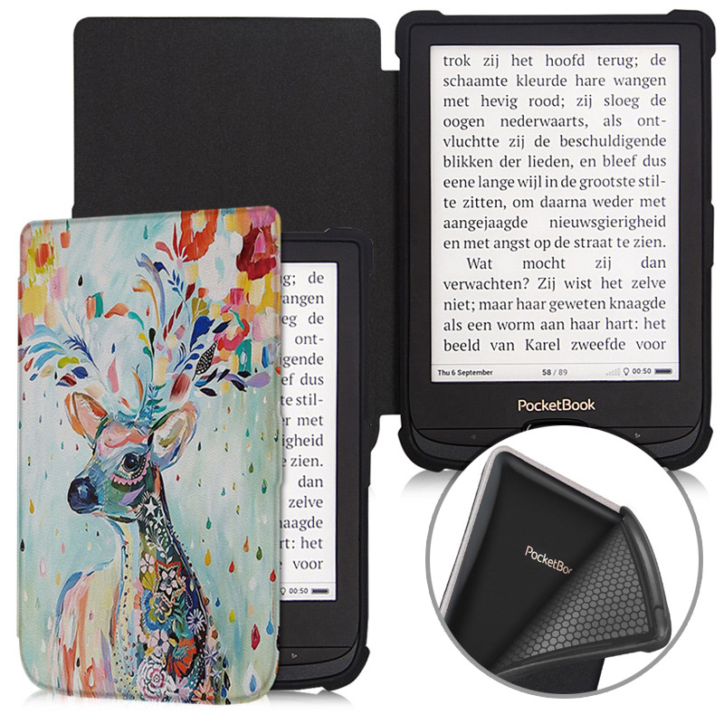 BOZHUORUI Smart Case For Pocketbook 616 627 632 E-Books, Touch Lux 4/Basic Lux 2/Touch HD 3 TPU Soft Shell Cover Auto Sleep/Wake
