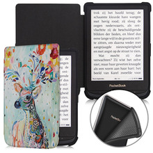 BOZHUORUI Smart case for Pocketbook 616 627 632 e-Books, Touch Lux 4/Basic Lux 2/Touch HD 3 TPU Soft Shell Cover Auto Sleep/Wake for 2016 pocketbook touch hd 631 ereader smart cover case screen protector stylus
