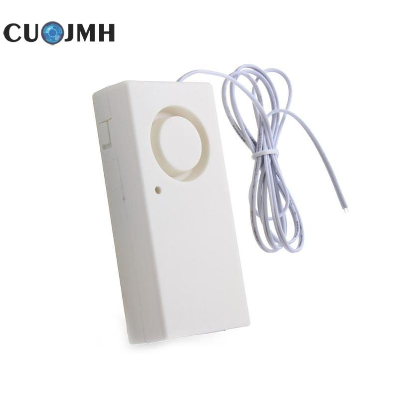 1 Pcs White Leak Alarm Detector 120 Db Full Water Alarm Household Safety Leak Overflow Sensor Alerter Home Security Alarm water leak alarm