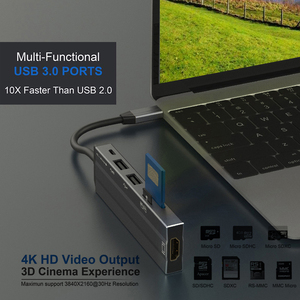 Image 2 - AIXXCO USB HUB USB C để HDMI SD/TF đối với MacBook Samsung Galaxy S10 Huawei Mate 20 P20 Pro loại C USB 3.0 HUB