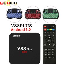 V88 Plus Smart Android 6.0 smart TV Box RK3229 Quad Core UHD 4K TV Box HDMI 2GB 8GB WiFi HD Media Player Set top Box PX X96 V88