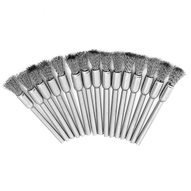 45pcs Stainless Steel Wire Cup Mix Brush Set Fits Rotary Tool Accessory XS