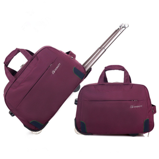 d08857f89d Trolley Travel Bag Hand Luggage Rolling Duffle Bags Waterproof Oxford  Suitcase Wheels Carry On Luggage Unisex