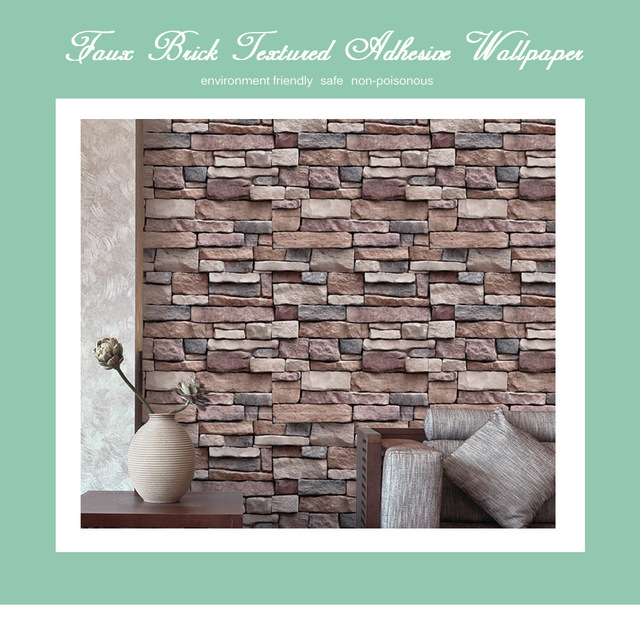 new wall stickers faux brick wallpaper textured adhesive for living