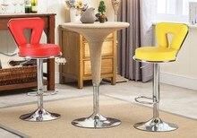 Барный стул PU кожа фиолетовый оранжевый цвет сидений бесплатная доставка кофе дома табурет