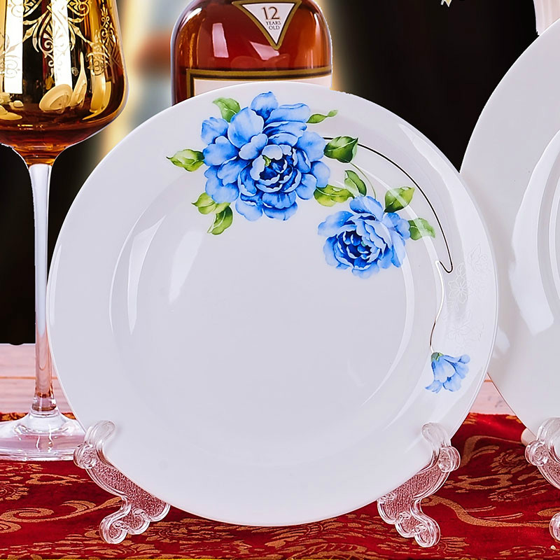 Western Style Luxury Restaurant Ceramic Dinner Plate Dish Bone China Porcelain Dinnerware 8 inches Round Decorative Flat Plate-in Dishes \u0026 Plates from Home ... & Western Style Luxury Restaurant Ceramic Dinner Plate Dish Bone China ...