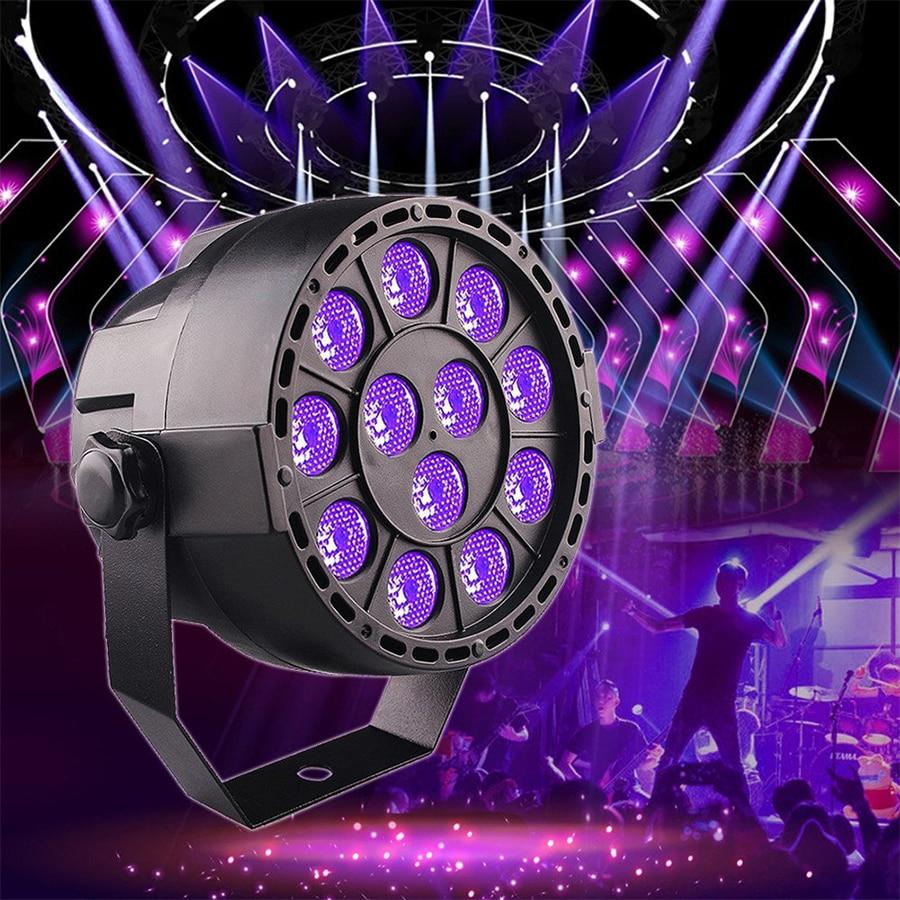 36W Purple LED Par Stage Light Voice Control Sensor UV  Lamp Dmx Cable 512 Controller Moving Head DJ Disco Dance Floor Light