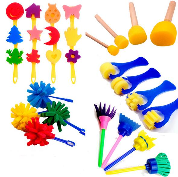 New Drawing Toys Funny creative toys for kids diy flower Graffiti sponge Art Supplies Brushes Seal Painting Tool детские ткацкие станки аксессуары sega toys ] kira lame seal art kr 02 diy