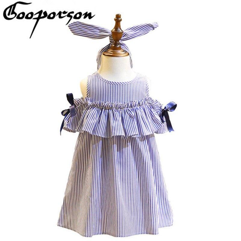 Κορίτσια καλοκαίρι φόρεμα casual ριγέ - Παιδικά ενδύματα