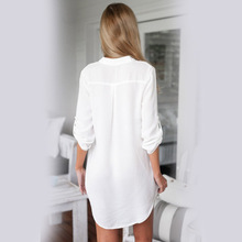 Maternity Clothes V-neck Chiffon Blouse Long Sleeve Shirt for Pregnant Women Loose Tops Vestidos Female Femme Pregnancy Clothing