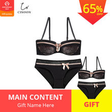 f9623ea9a4af CINOON 2019 NEW Lace Bow Lingerie Set 1/2 Cup Sexy Intimates Push Up Bra  Set Underwear Floral Embroidery Lace Women Bra Panty