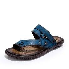Nuevo 2017 Hombres Del Verano Sandalias de Moda Del Dedo Del Pie Cerrado Flexional Suave Comodidad Sandalias De Playa Masculino De Cuero de Gamuza Genuina Zapatos de Cuero