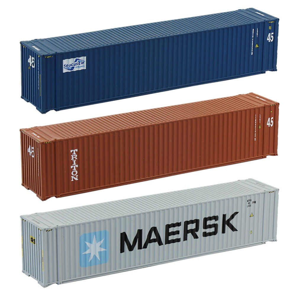 45ft Containers 1:150 N Scale Shipping Container Freight Car Model Trains Lot C15010 Railway Modeling