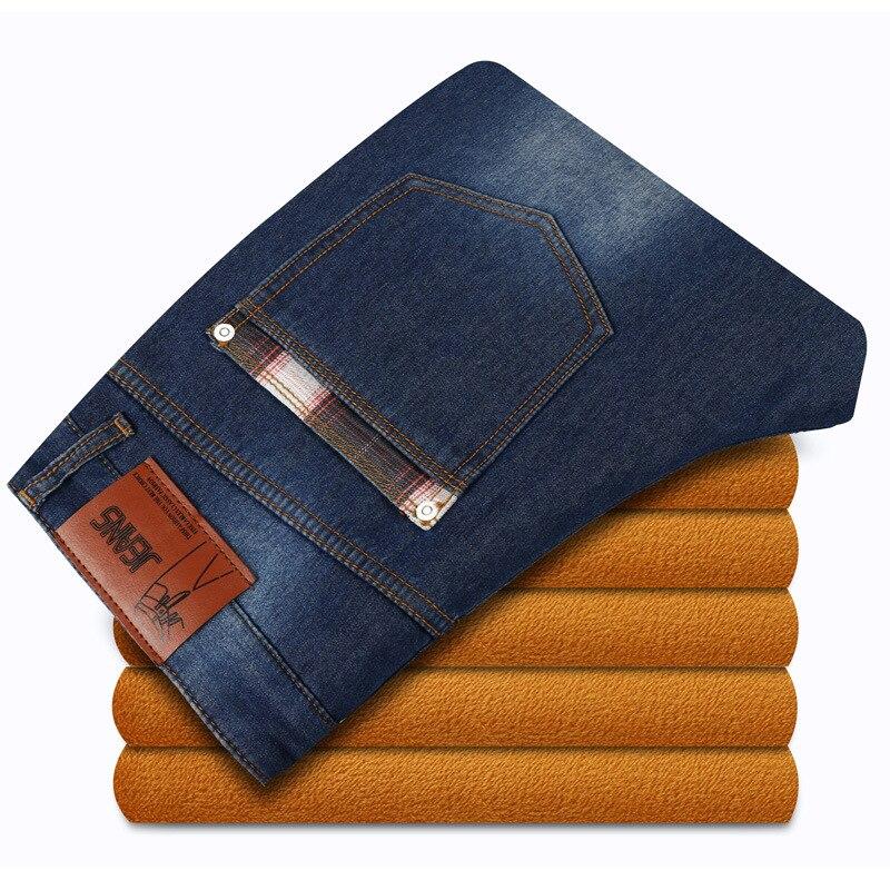 Autumn Winter Brand Mens Jeans Fleece Straight Jeans Men High Quality Casual Denim Jeans Mid Waist Men Fashion Designer Pants 95% new good working ua40d5000pr s100fapc2lv0 3 bn41 01678a ltf460hn01 l board