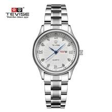 Top de Lujo Reloj de Las Mujeres Señoras Reloj de Cuarzo de Acero Inoxidable Reloj Impermeable Girls Moda Casual Reloj Del Relogio masculino