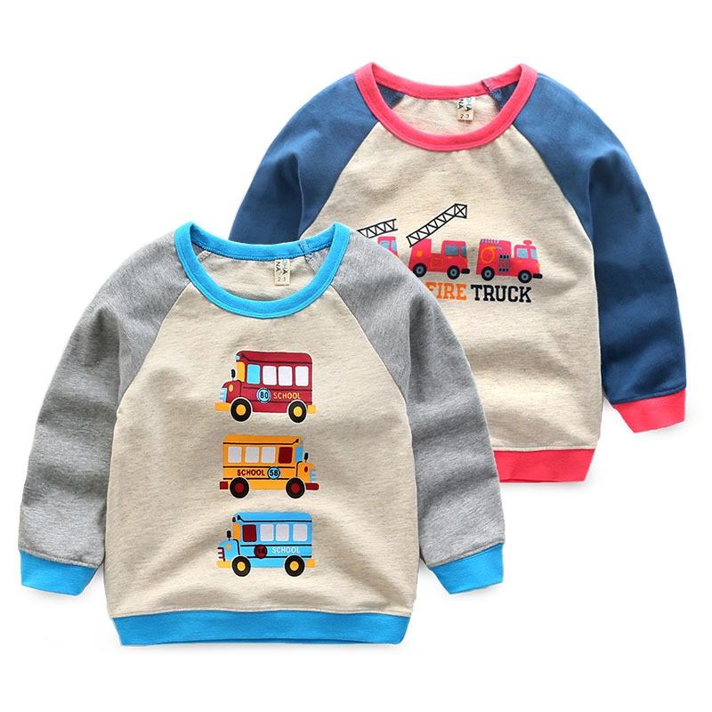 2017 new spring boys girls sweatshirt High quality cotton car-styling hoodies kids Baby costume Childrens clothing