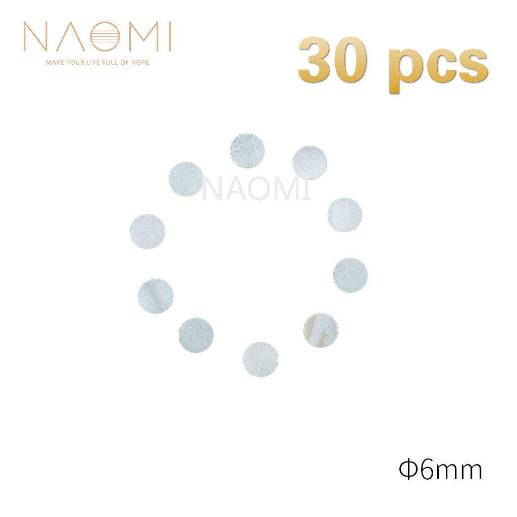 Musical Instruments Adroit Naomi 30 Pcs Guitar Dots 6mm White Mother Of Pearl Shell Fingerboard Dots W/inlay For Eelectric Guitar Ukulele Fingerboards #6mm Lovely Luster Guitar Parts & Accessories