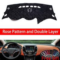 Rose Pattern For Chevrolet Cruze 2015 2016 2018 Dashboard Cover Car Stickers Car Decoration Car Accessories Interior Car Decals
