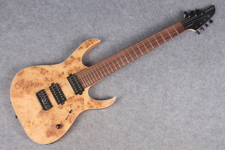 7 string guitar Electric Guitar,24F,Flamed Maple Top,All Color are available free shipping