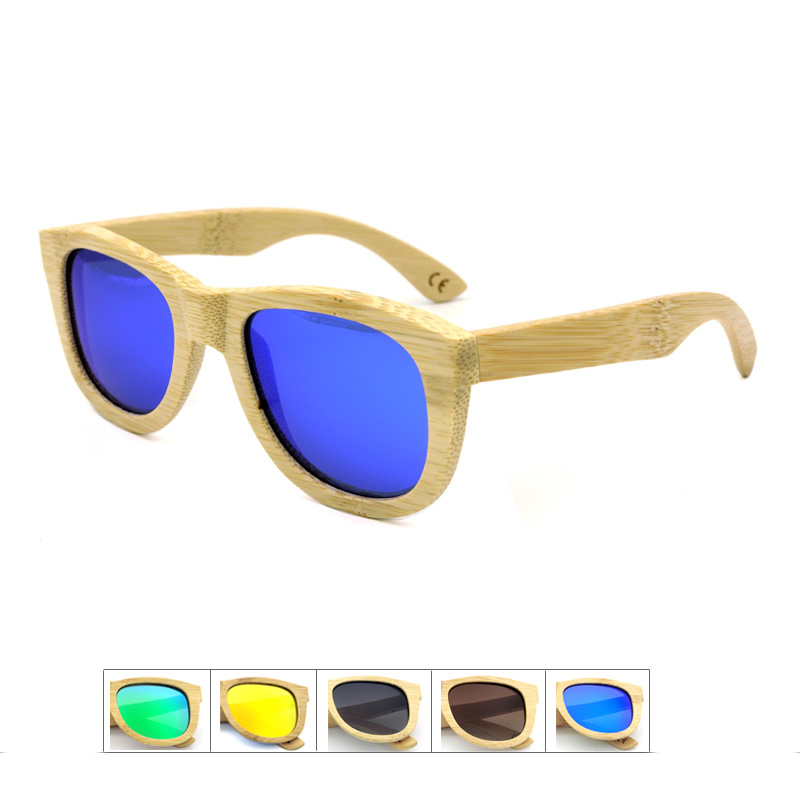Hot sale Designer Quality Men s and Womens s Unisex Avitator Mirrored TAC Hd Polarized Bamboo