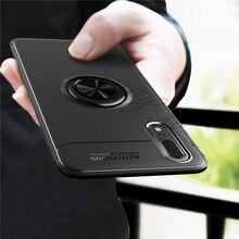For Huawei P20 pro Case lite/Nova 3E Silica gel Car Holder Stand Magnetic Bracket Finger Ring TPU
