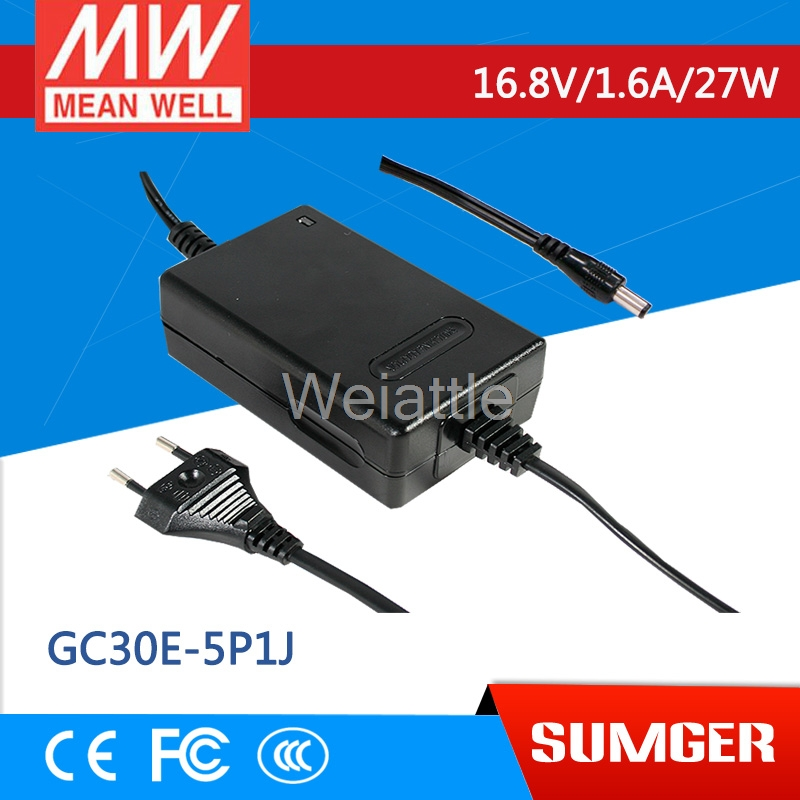 MEAN WELL original GC30E-5P1J 16.8V 1.6A meanwell GC30E 16.8V 27W Power Adaptor with Charging FunctionMEAN WELL original GC30E-5P1J 16.8V 1.6A meanwell GC30E 16.8V 27W Power Adaptor with Charging Function