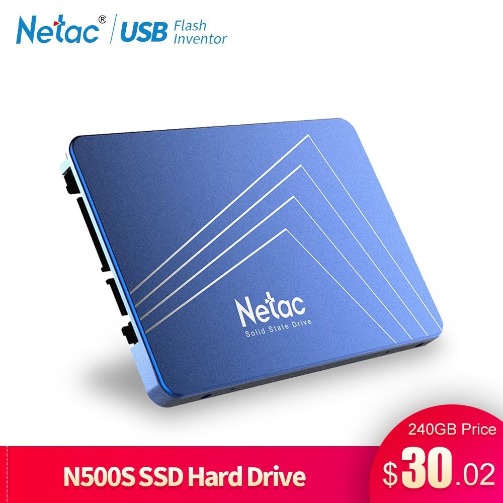 Netac N500S SSD 240 GB 2,5 480 GB SSD 120 GB disco duro de 1 TB TLC 60 GB interno unidad de estado sólido de 720 GB portátil disco duro de la computadora