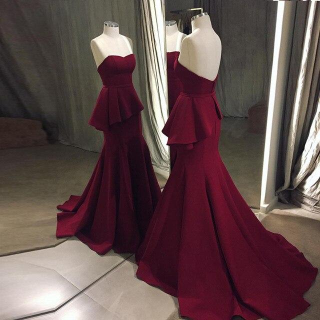 Élégant sans manches chérie robe de soirée longue 2018 élastique sirène robes de bal longues robes de soirée